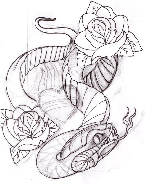 Dessin De Serpent Pour Tatouage - Tatouage Serpent 123RF