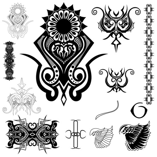 sun star and moon tattoos. tribal tattoos designs for men pink shooting star