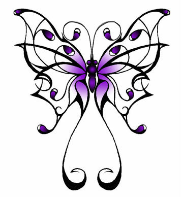 Tattoo Design Engraving Nice Butterfly Tattoo