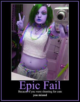 Emo girl fail