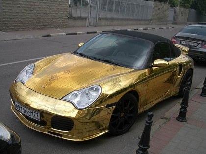 Golden Porsche Fail