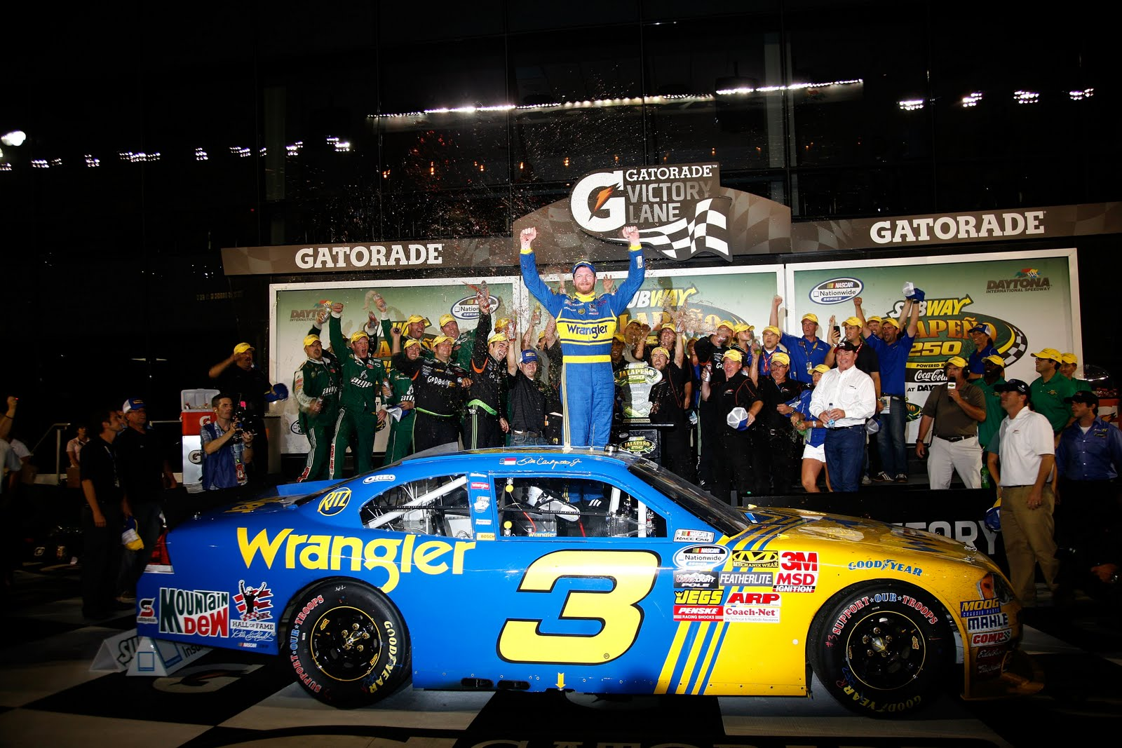 Dale Jr. takes No. 3 to Victory Lane in emotional win (NNS ...