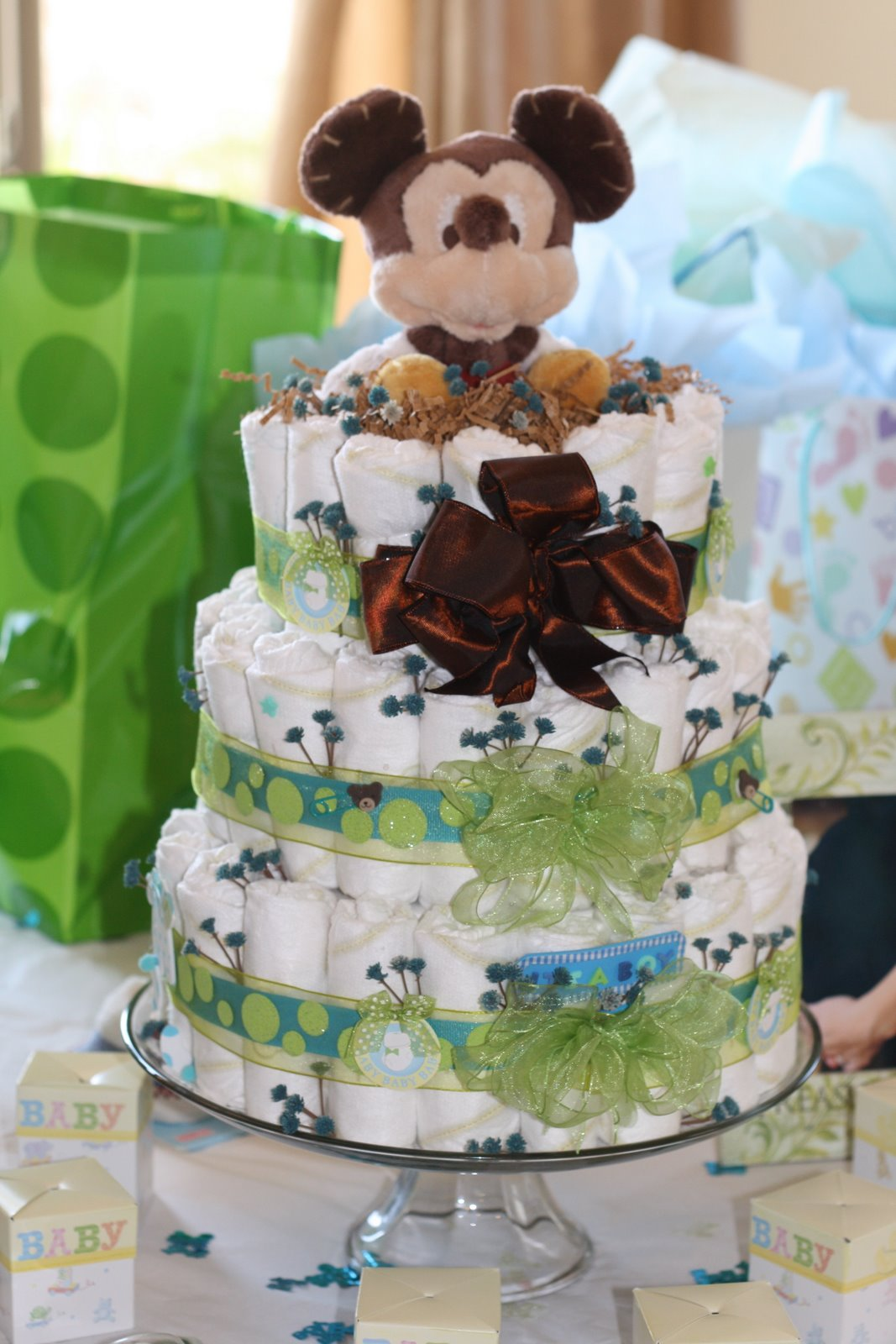 The Project Table: Baby Boy Diaper Cakes