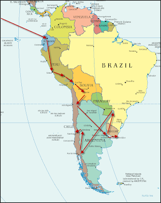 south america map summary