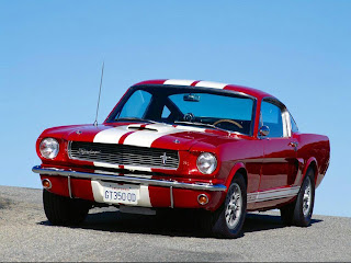mustang cobra red car hot wallpapper
