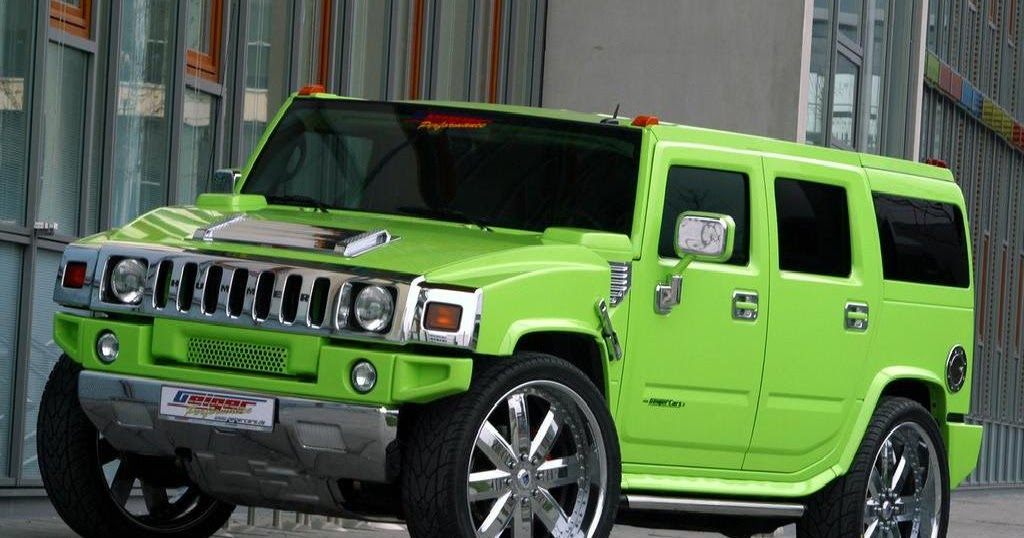 Expensive Car Hummer Green Hot Wallpapper