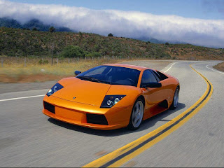 Lambo Orange car hot wallpapper