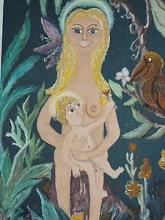 Se Jesus tivesse nascido entre nós, no meio da mata, cercado pela exuberante natureza. Pintura de Américo Canhoto