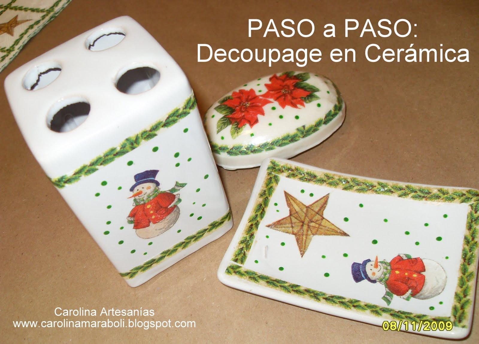 Set De Baño De Navidad:Vitrina de Carolina Artesanías (La Tienda): 5- Set de Baño, navidad