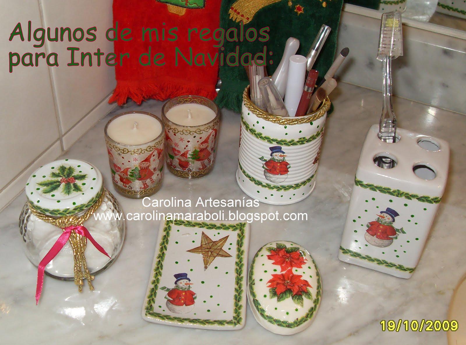 Set De Baño De Navidad:Vitrina de Carolina Artesanías (La Tienda): 6- Set de Baño, navidad