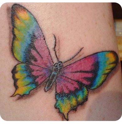 tattoo de borboletas. TATUAGEM DE BORBOLETA!