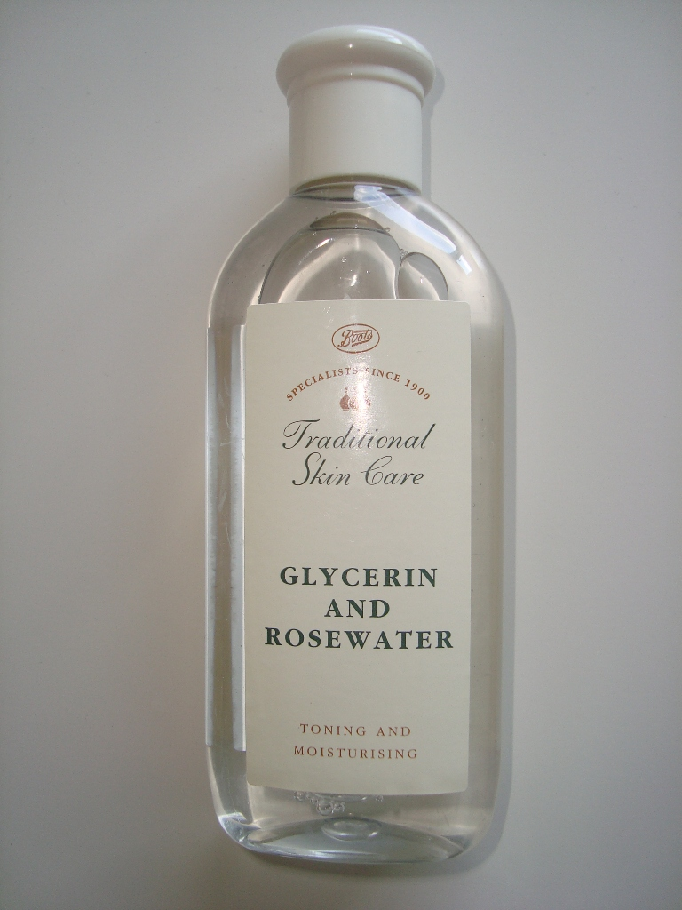 rosewater and glycerin toner