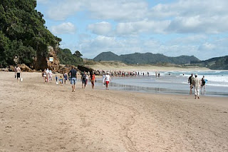 Hot water beach in nz