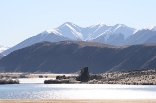 NZ Lake Pearson in deep winter
