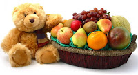 teddybear and fruitbasket