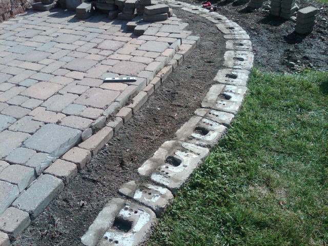 cutting patio pavers home design ideas and pictures