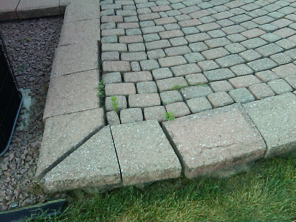 Raised Paver Patio Repair In Saline