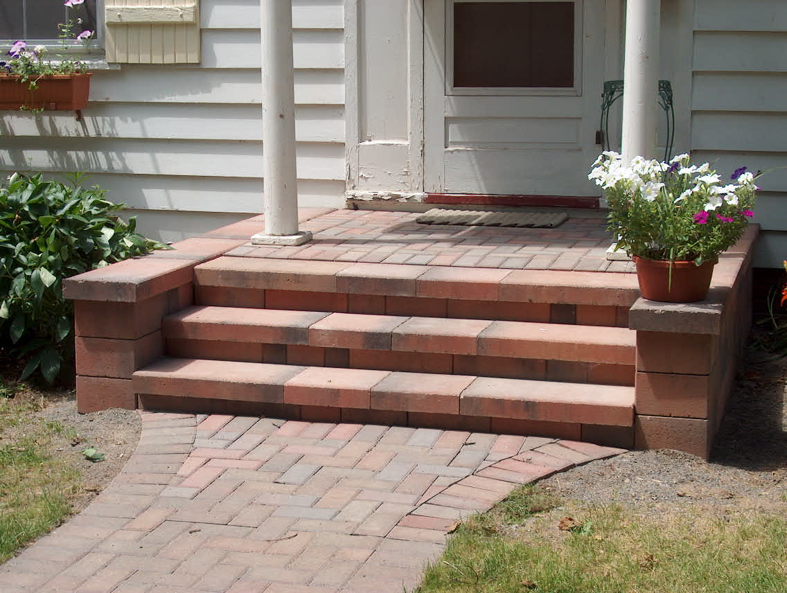 Brick pavers canton plymouth northville ann arbor patio for Brick porch designs