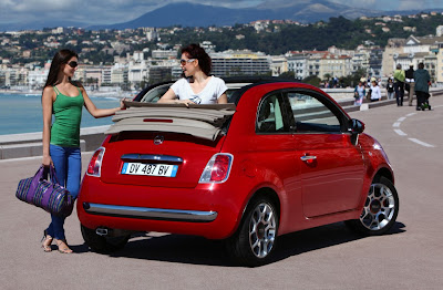 Fiat 500 USA: Fiat 500C spy video :  green cars italian design cars italy