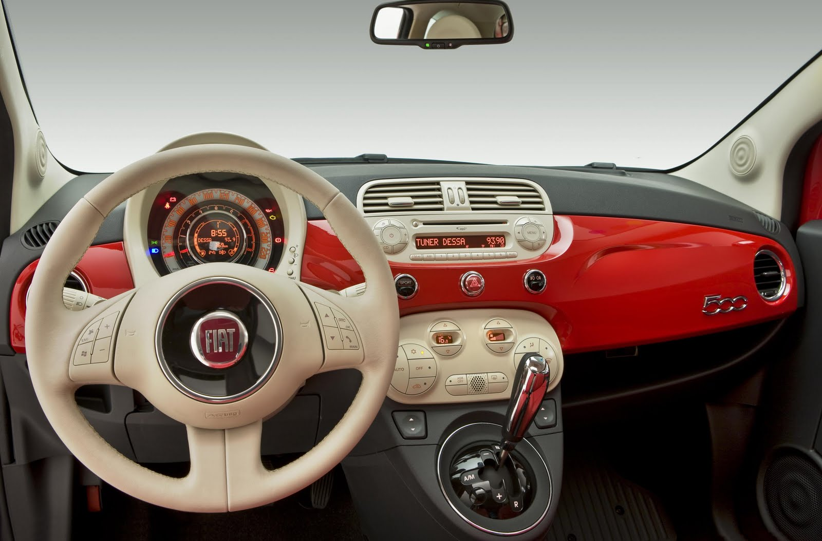 inside the fiat 500 automatic climate control fiat 500 usa. Black Bedroom Furniture Sets. Home Design Ideas