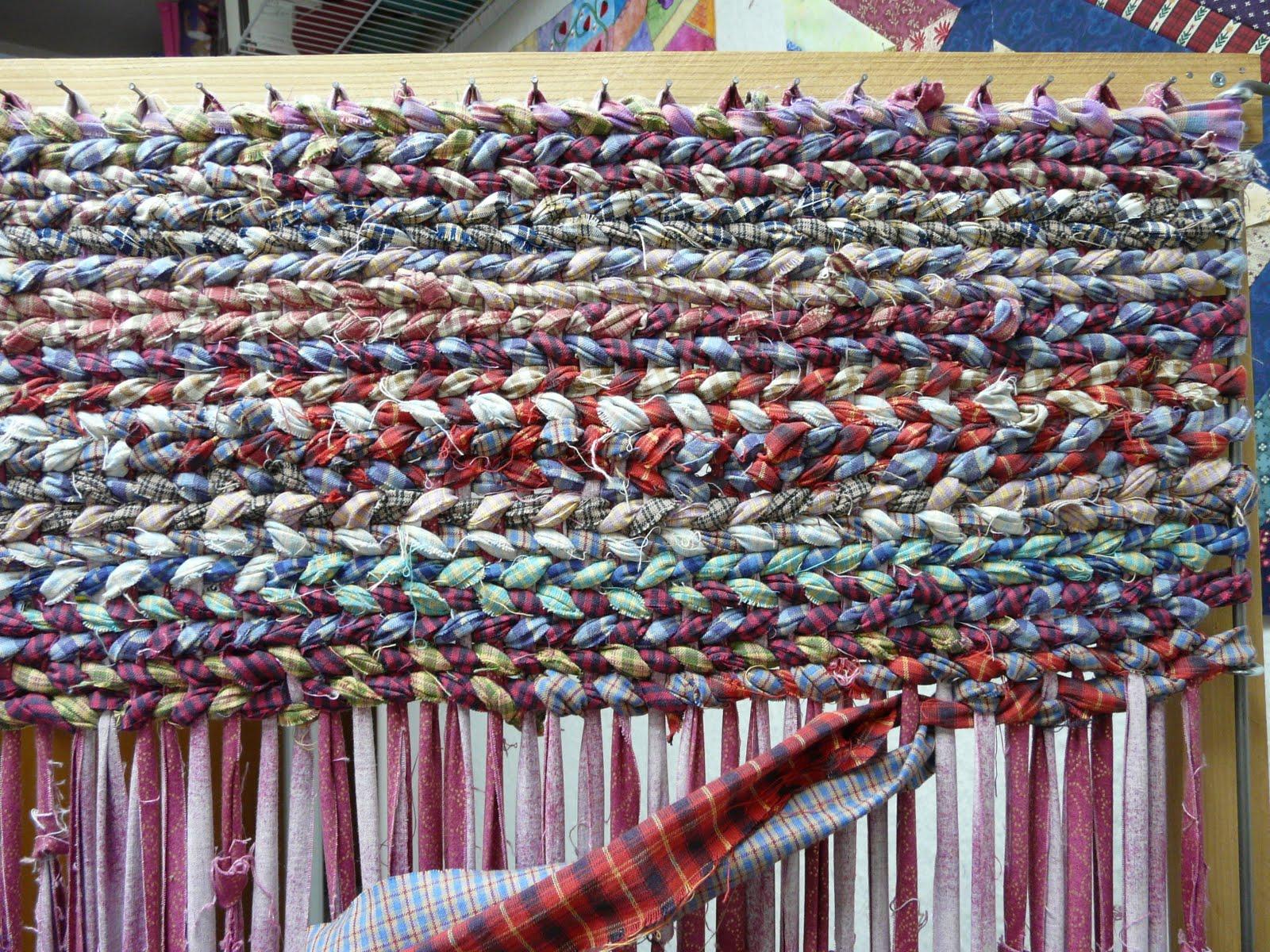 Rag rug fabric strip