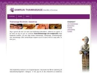 er svenska samruai thaimassage