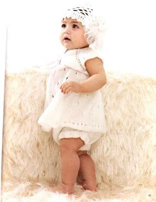 bebekorgu22 Anlatımlı Ajurlu Kız Bebek Elbisesi Ve Anlatımlı Tığ İşi Bebek Beresi