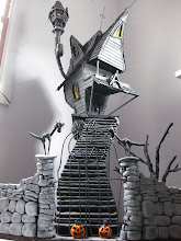 on sale know $1000.00 plus shipping JACKS HAUNTED HOUSE 3 1/2 FEET TALL