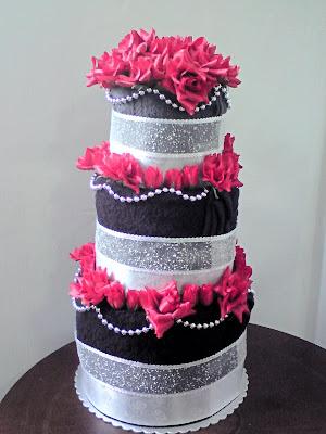 Wedding Cake No2 Red Black White