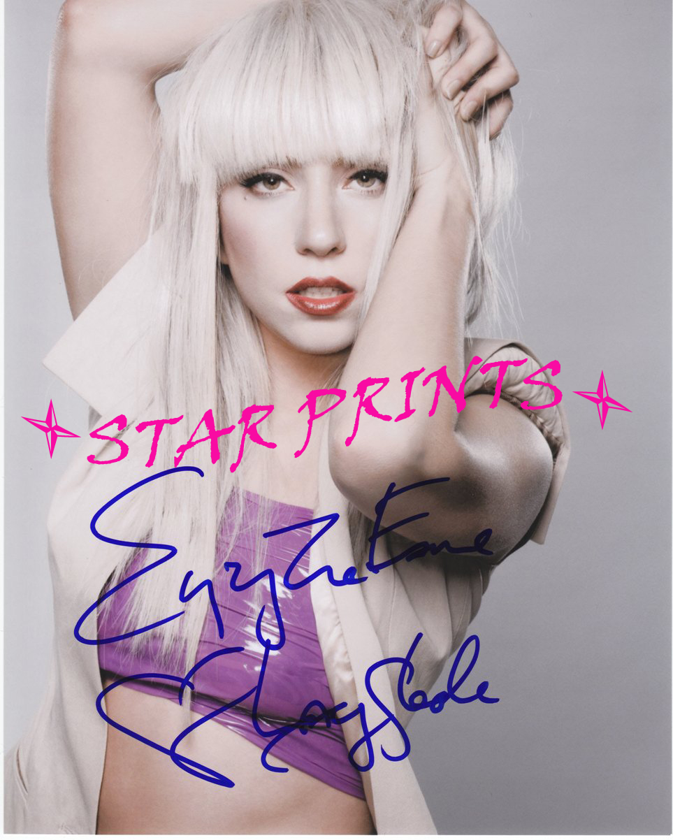 lady gaga autograph - photo #18