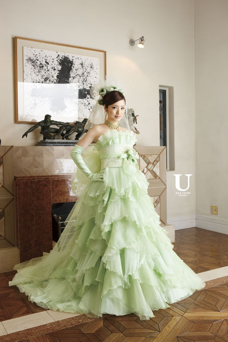 ueto_dresses2_005.jpg (image) :  aya ueto wedding dress green