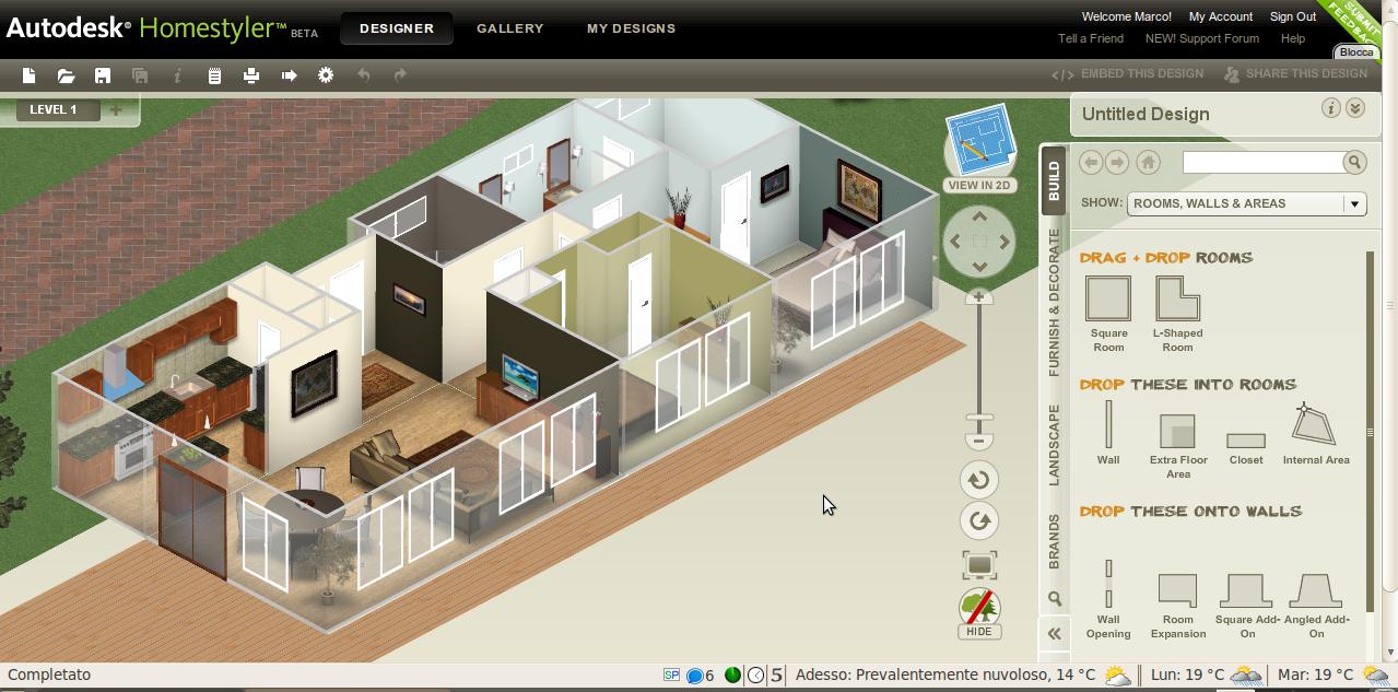 Autodesk homestyler disegna la tua casa dei sogni for Costruisci la tua casa dei sogni