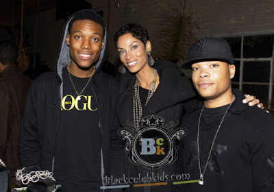 nicole murphy ex wife of eddie murphy with son miles and son of her    Nicole Murphy Sons