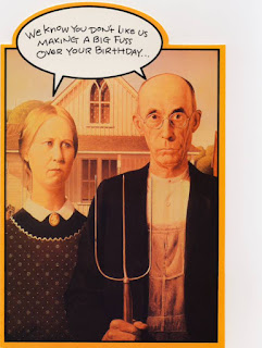 American Gothic Birthday Card
