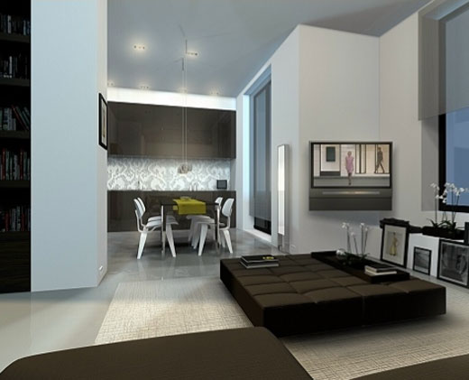 modern home interior private apartment decorating ideas