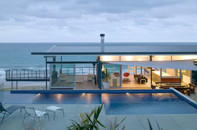 Luxury beach house designs architecture by Pete Bossley