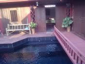 bridge across pool