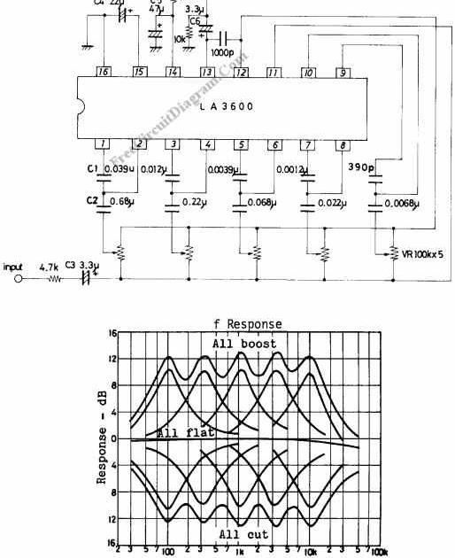 tone control schematic  skema 5 band equalizer mono