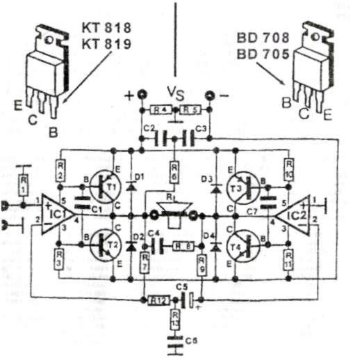 skema elektronika  skema 200 watt high quality audio power amplifier