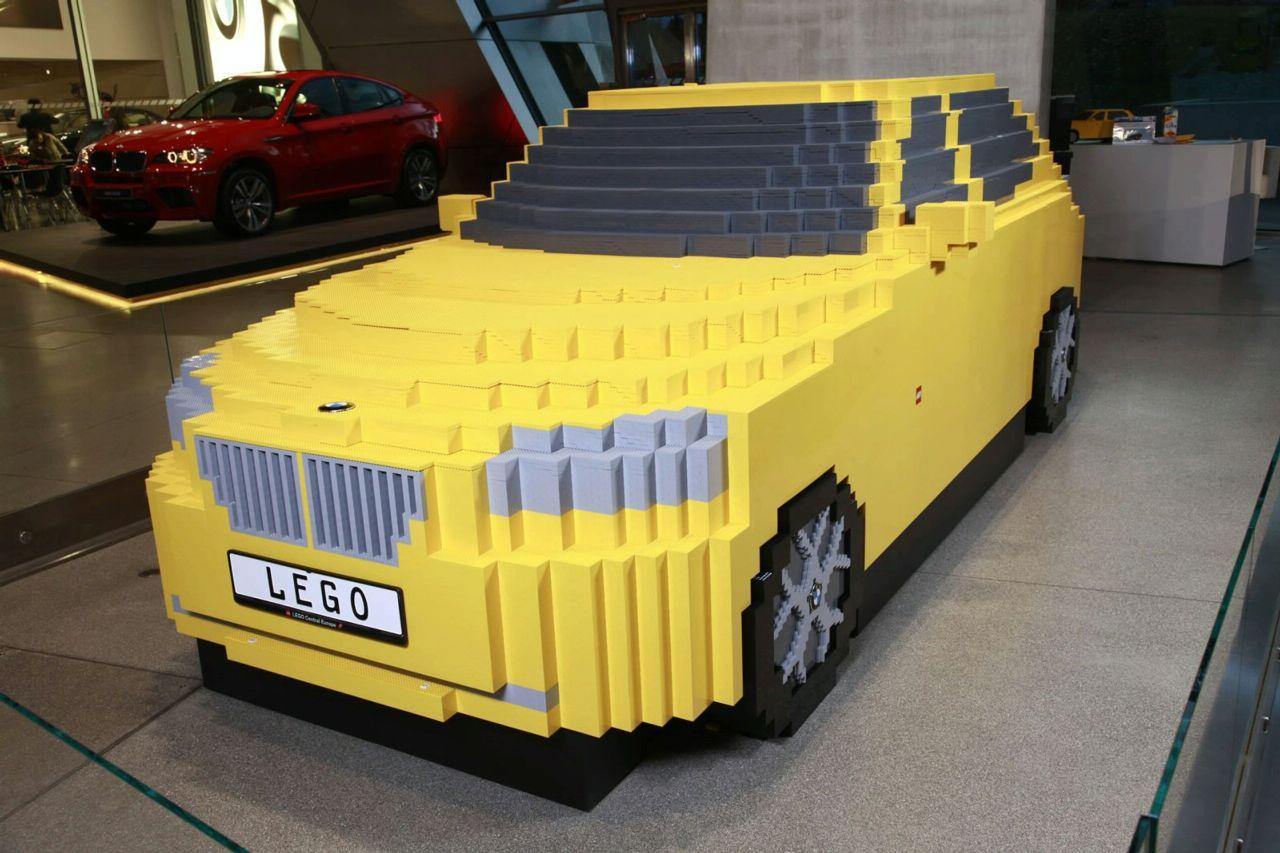mostly yellow LEGO bricks.