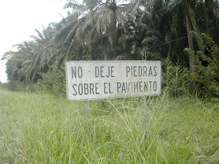 No rocks on highway, Honduras