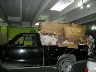 Furniture loaded in pickup, San Pedro Sula, Honduras