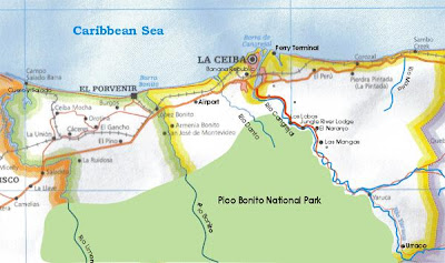 La Ceiba area map