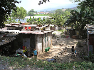 tin and wood shacks, La Ceiba, Honduras
