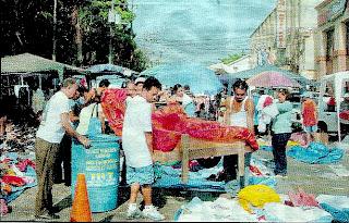 Achines, street vendors in La Ceiba