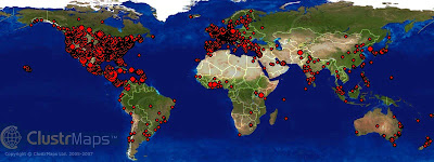 world map of visits