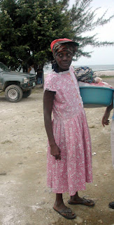 Garifuna woman, Tela Honduras