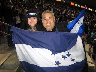 US-Honduras game flag