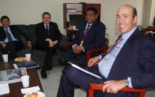 US Amb. Hugo Llorens with Honduran Election Commission