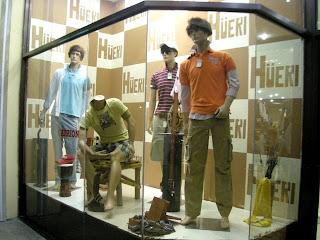 badly coiffed mannequins, La Ceiba, Honduras